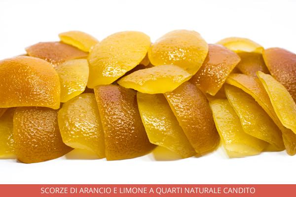 Scorze di arancio e limone a quarti naturale candito - Ambrosio