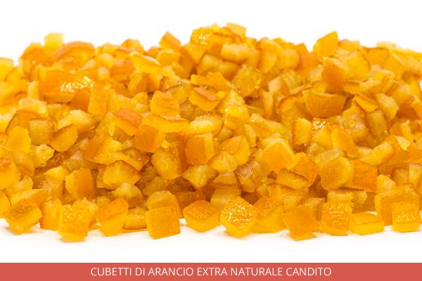Cubetti di arancio extra naturale candito - Ambrosio