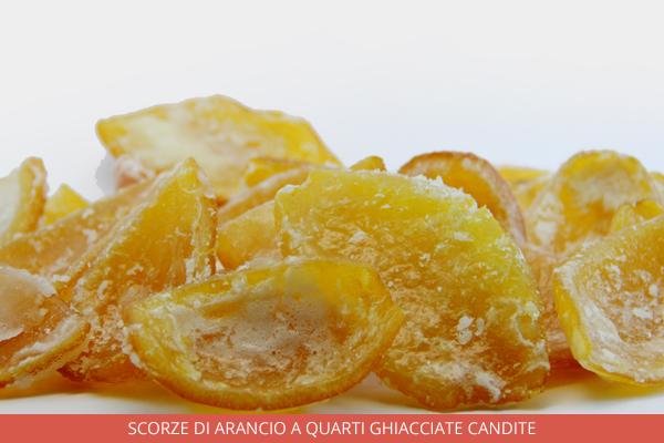 Scorze di arancio a quarti ghiacciate candite - Ambrosio