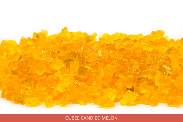 Cubes Candied Melon - Ambrosio