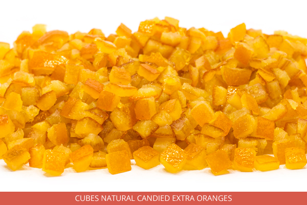 Cubes Natural Candied Extra Oranges - Ambrosio