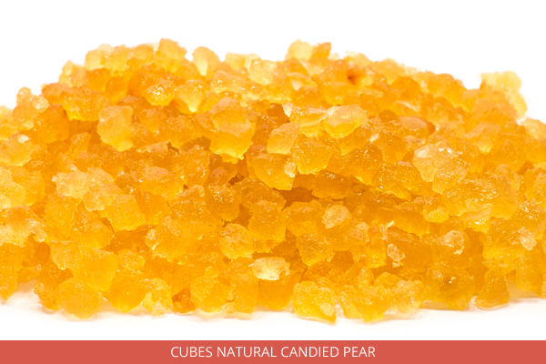 Cubes Natural Candied Pear - Ambrosio