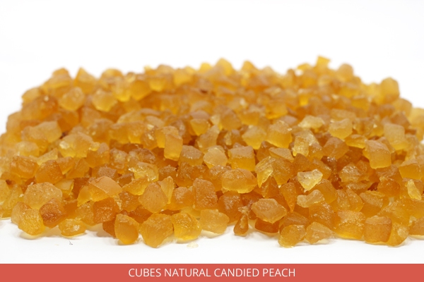 Cubes Natural Candied Peach - Ambrosio