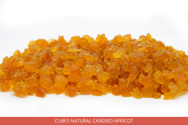 Cubes Natural Candied Apricot - Ambrosio