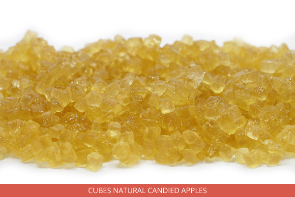 Cubes Natural Candied Apples - Ambrosio