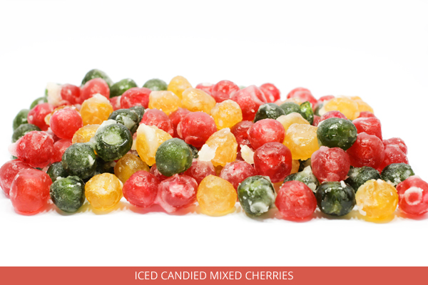Iced Candied Mixed Cherries - Ambrosio