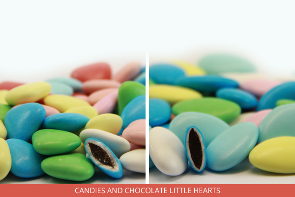 Candies and chocolate little hearts - Ambrosio