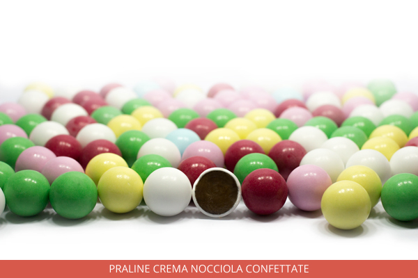 Praline crema nocciola confettate - Ambrosio