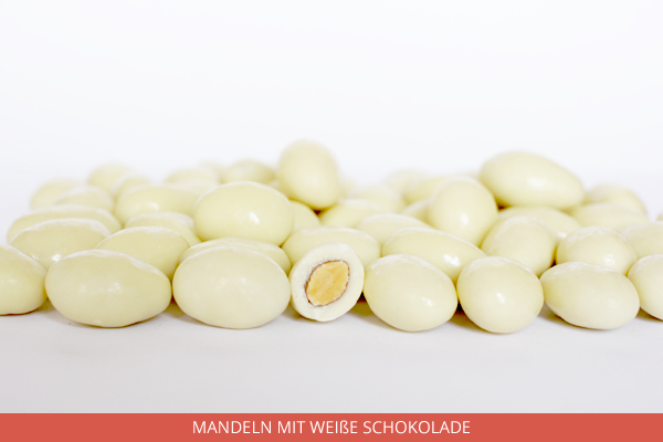 Mandeln mit weiße Schokolade - Ambrosio