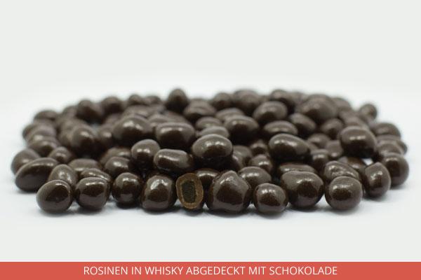 Rosinen in Whisky abgedeckt mit Schokolade - Ambrosio