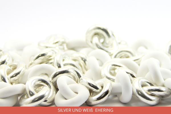 1Silver und Weiß Ehering - Ambrosio