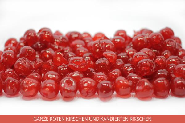 Ganze roten Kirschen und kandierten Kirschen - Ambrosio