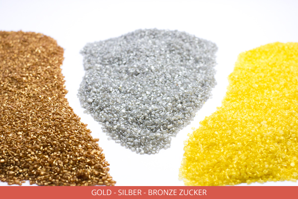 Gold - silber und bronze Zucker - Ambrosio