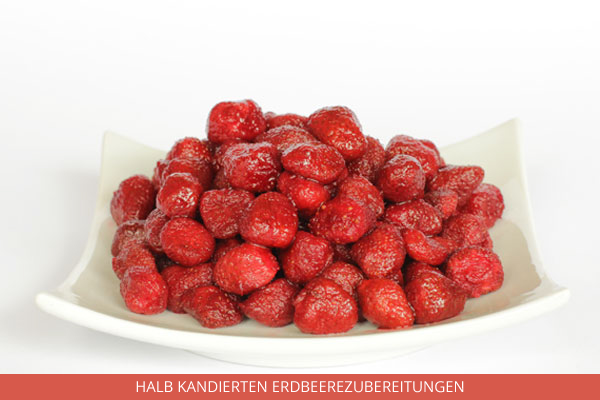 halb kandierten Erdbeerezubereitungen - Ambrosio