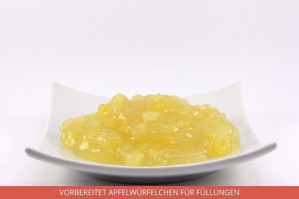 Vorbereitet Apfelwürfelchen für Füllungen - Ambrosio