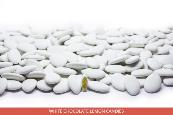 White chocolate lemon candies - Ambrosio